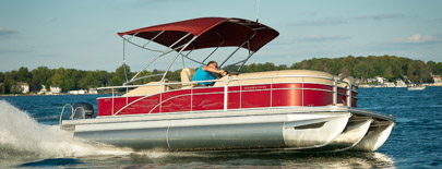 If you're looking for the best value in boating today, look no further than Bennington S Series pontoons and tri-toons. Bennington offers enjoyment for everyone, combining comfort, style and function with an affordable price tag. Built in the heart of the Midwest by expert craftsmen, you won't believe the value for the money. We allow you to customize your pontoon boat with our unique Build-A-Boat web tool. Select your stern lounge seating, fishing features, bimini or camper top, on-board sink and more!