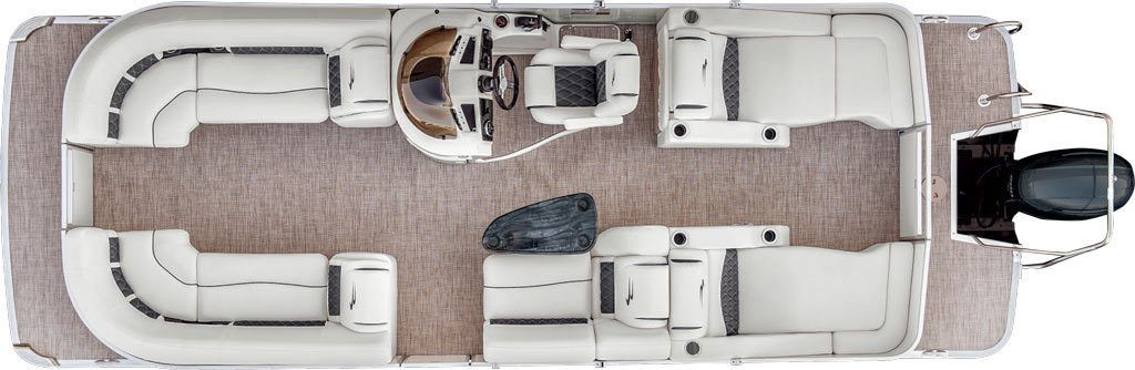 2017 g23 stern radius pontoon boats by bennington