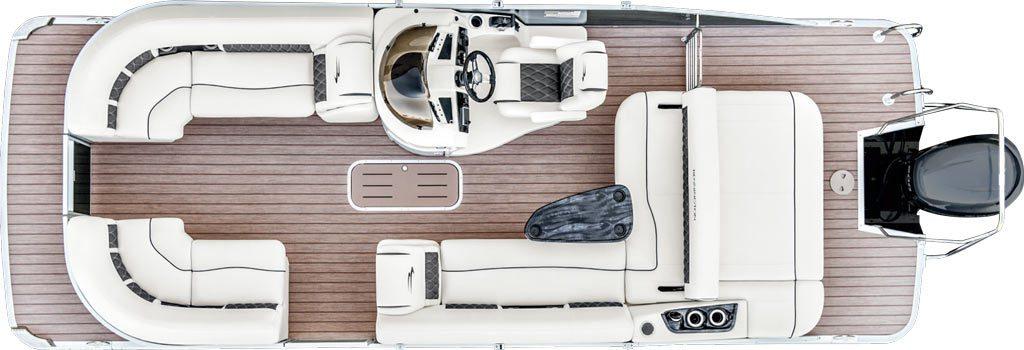 2017 g22 swingback pontoon boats by bennington