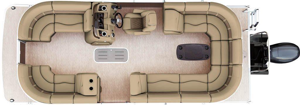 2017 Sx22 Stern Radius Pontoon Boats
