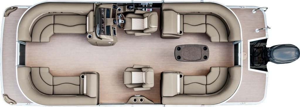 2017 sx22 premium pontoon boats by bennington for Boat floor plans