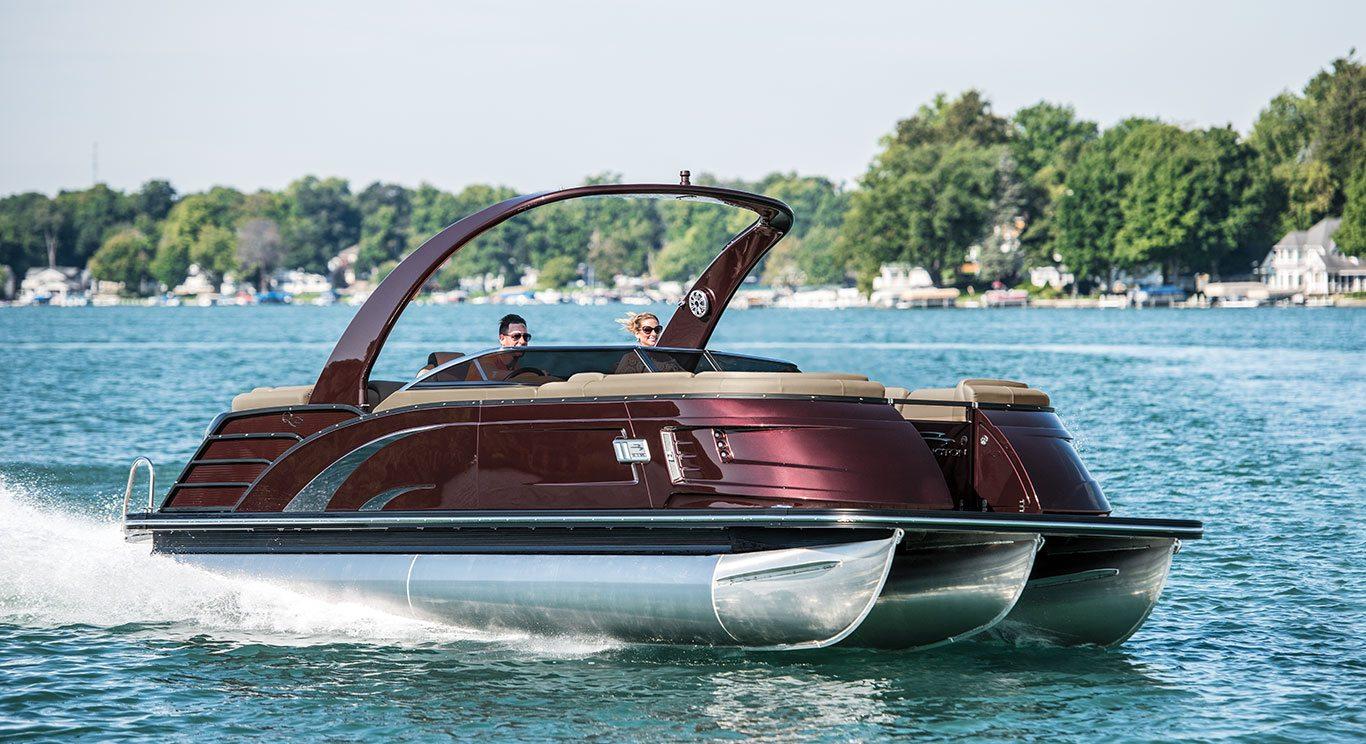 2017 Qx25 Fastback Fiberglass Pontoon Boats By Bennington
