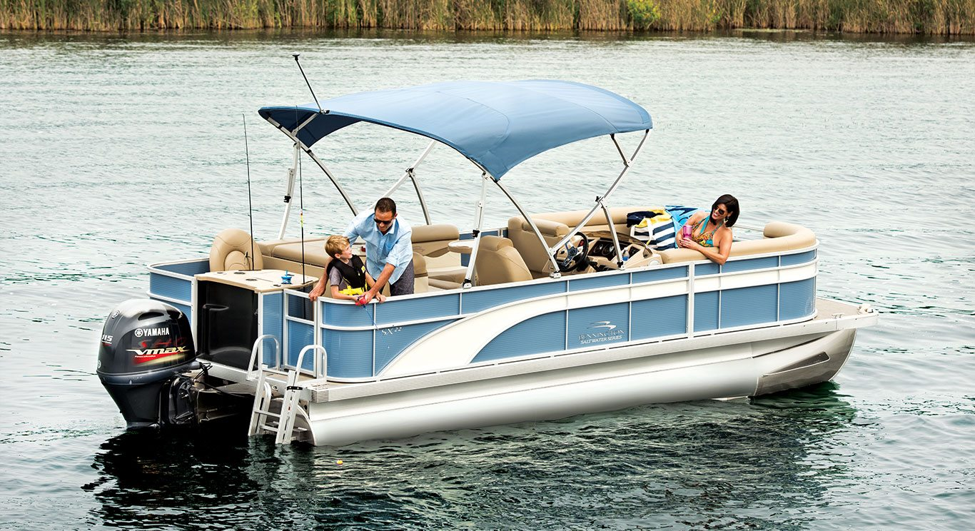 Sx22 cruise fishing pontoon boats by bennington for Best fishing pontoon boat