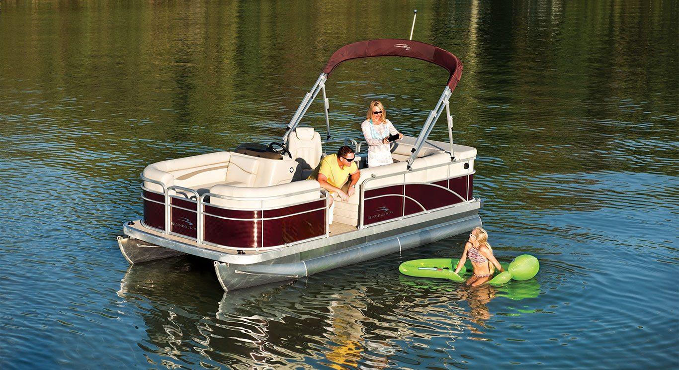 S16 8ft wide pontoon boats by bennington for Best fishing pontoon boat