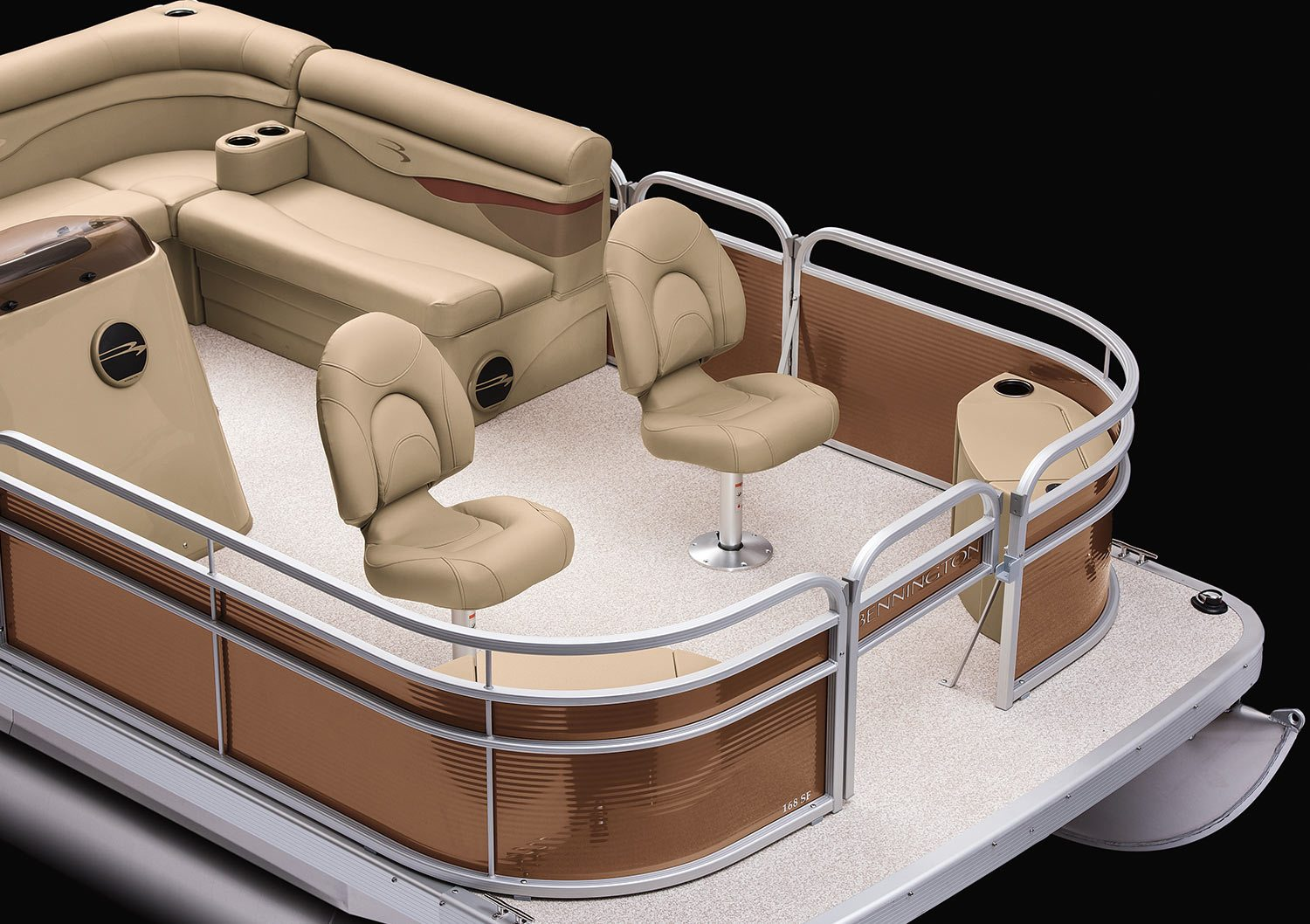 2017 S16 8 Wide Fishing Pontoon Boats By Bennington