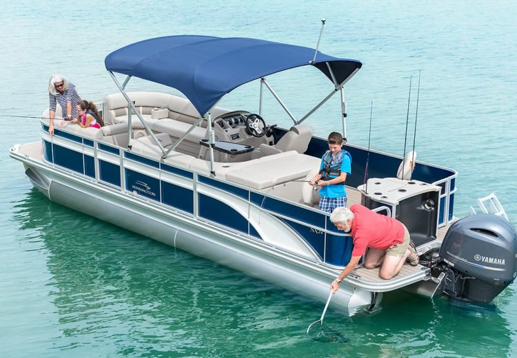 Sx series pontoon boats by bennington for Best fishing pontoon
