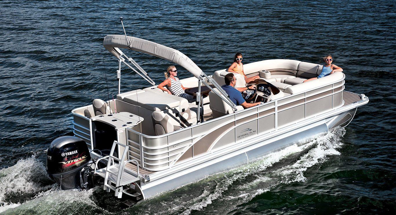 G25 cruise fishing pontoon boats by bennington for Best fishing pontoon boat