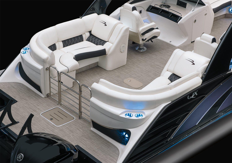 2018 Qx27 10 Wide Beam Fastback Fiberglass Pontoon Boats