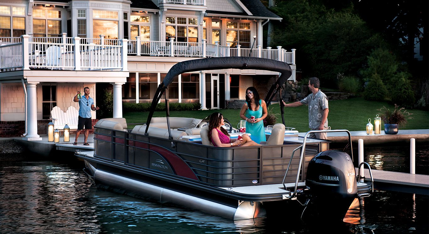 G22 Bar Pontoon Boats By Bennington