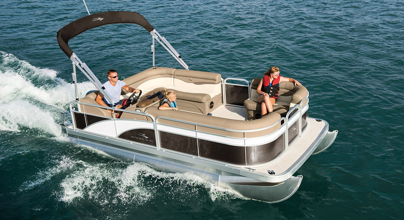 2017 s16 8ft wide pontoon boats by bennington for Mini pontoon fishing boats