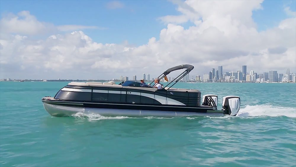 Evinrude Twin Engine Pontoon Boat