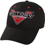 Victory Badge Logo Cap - Black
