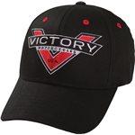 Victory Badge Logo Cap - Black