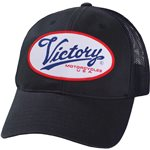 Victory Trucker Script Logo Cap - Black