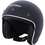Custom Open Face Motorcycle Helmet - Black