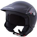 Shortie Open Face Helmet - Black