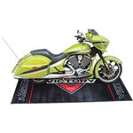 Logo Garage/Bike Mat- Black