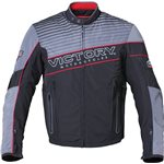 Mens Graphic Textile Jacket - Black/Gray