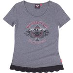 Women's Short Sleeve Spade Logo Tee -Gray