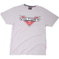 Logo Color Badge T-Shirt Grey