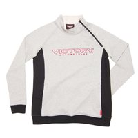 Womens Half Zip Sweatshirt - White/Black
