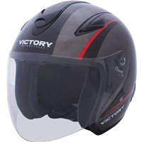 Jet Full Face Motorcycle Helmet - Black/Gray