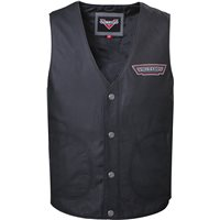 Men's Borderland Vest - Black Leather