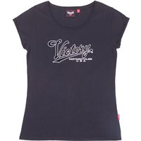 Women's Script Logo Scoop Neck T-Shirt - Black
