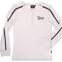 Women's Long Sleeve Henley - White