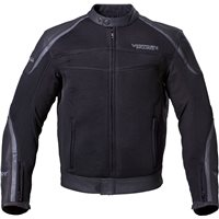 Mens Leather Mesh Hybrid Jacket - Black