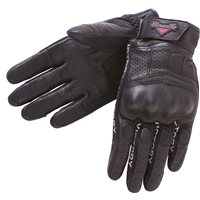 Men's Leather Graphic Gloves - Black
