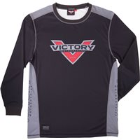 Men's Pique Long Sleeve- Black/Grey