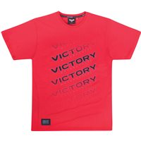 Men's Logo Fade Tee -Red