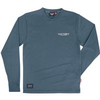 Mens Long Sleeve Attitude Spade Tee -Blue