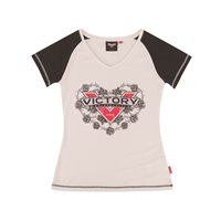 Women's Roses Tee Antique White/Black