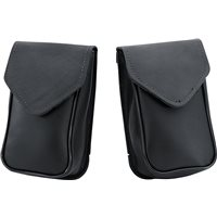 Leather Windscreen Bag - Black