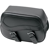 Leather Saddlebags - Black