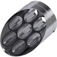 Vision Fluted Exhaust Tip - Chrome