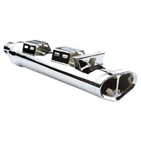 Tri-Oval Stage 1 Exhaust - Chrome