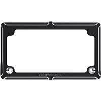 Victory® Beveled License Plate - Black