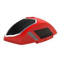 Saddlebag Audio Lid Suede - Indy Red Pearl w/ Stripe