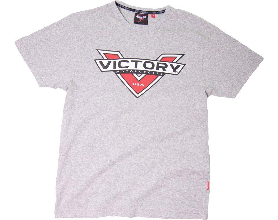 Logo Color Badge T-Shirt Grey 2863238