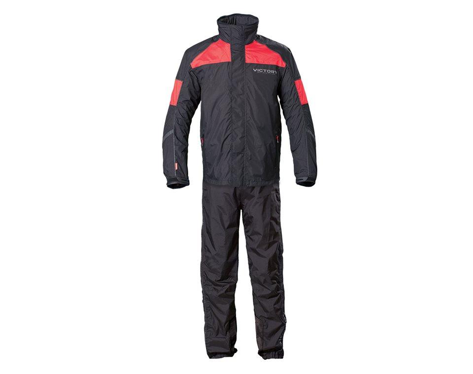 Unisex Victory Rainsuit - Black/Red 2863614