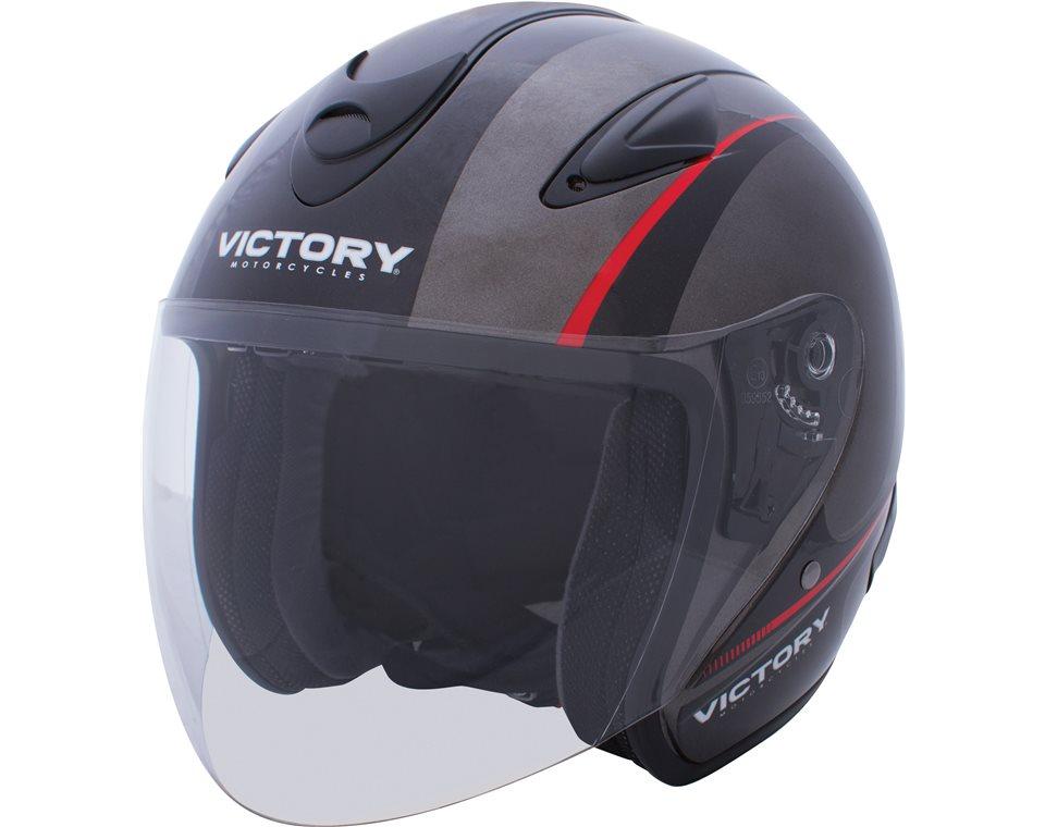 Jet Full Face Motorcycle Helmet - Black/Gray 2863691