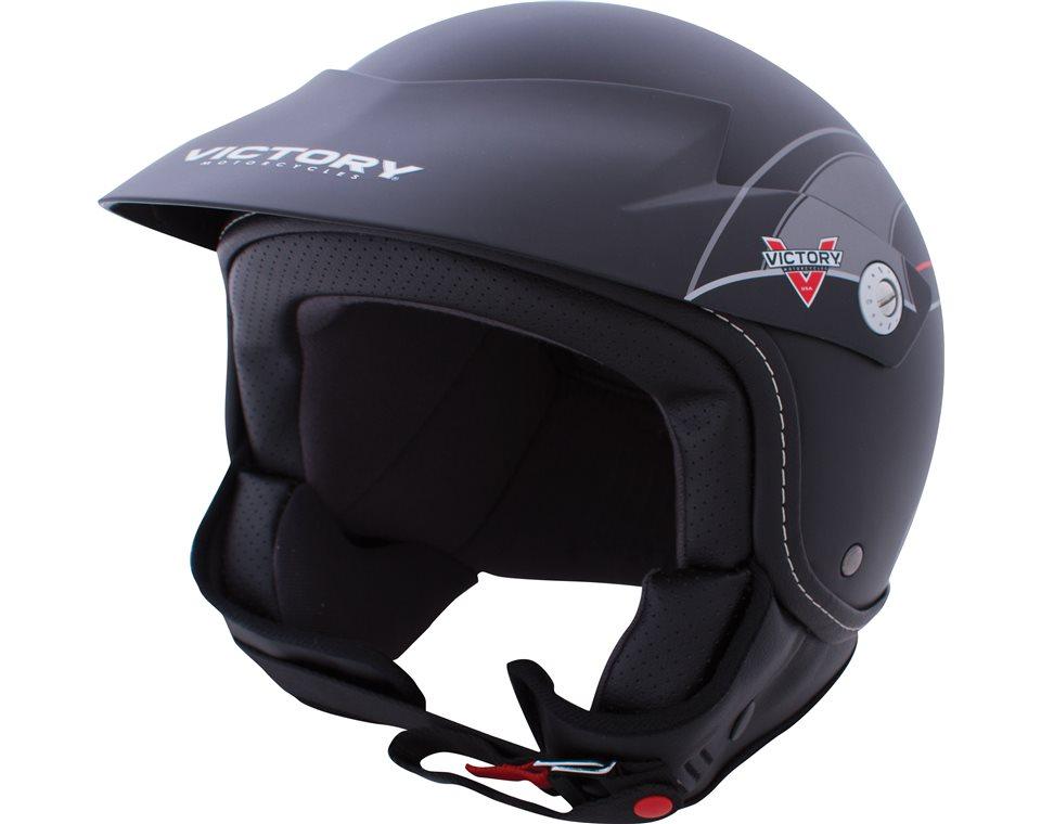 Shortie Open Face Helmet - Black 2863693