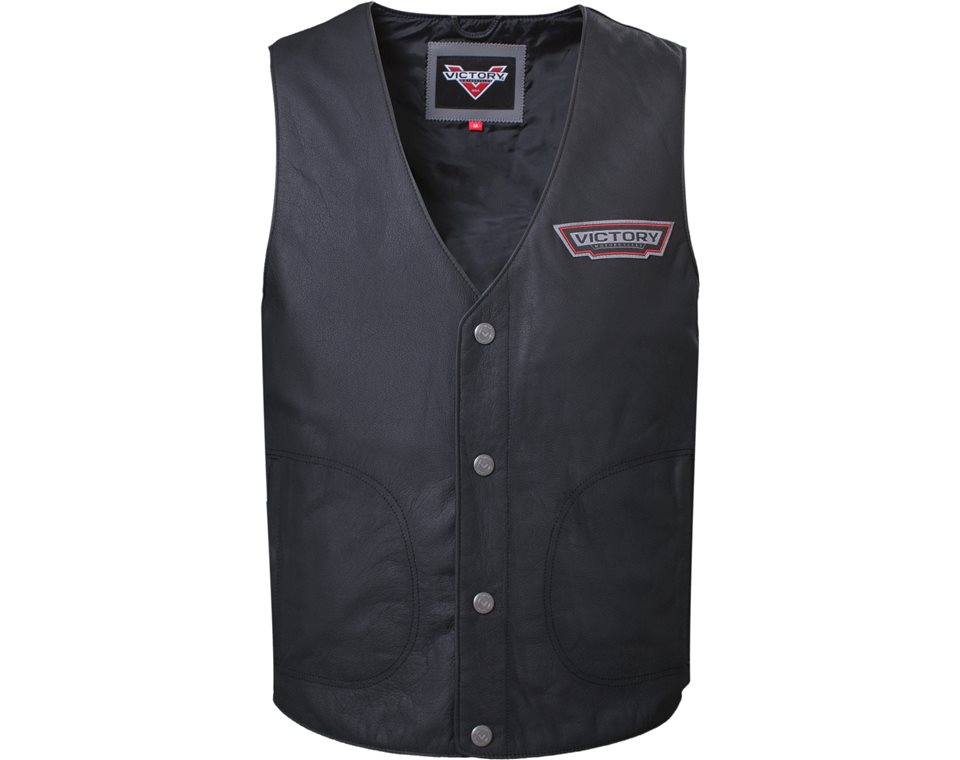 Men's Borderland Vest - Black Leather 2863730
