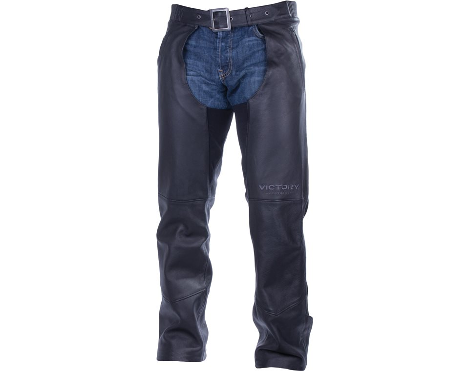 Men's Victory Chaps - Black Leather 2863732