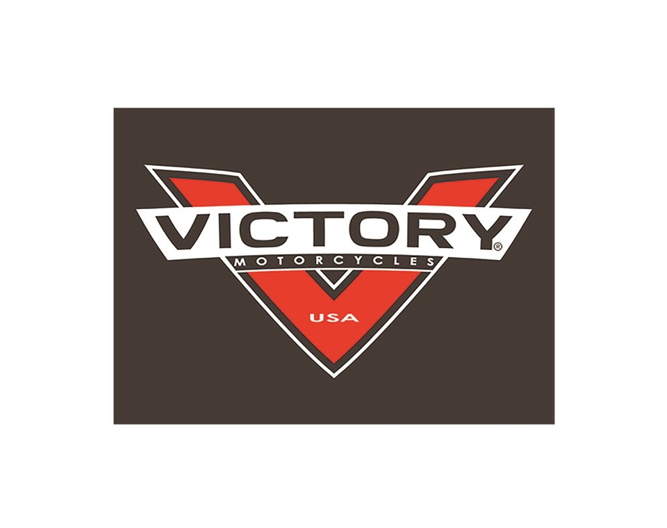Victory Motorcycle Red-V Leather Patch 2863937