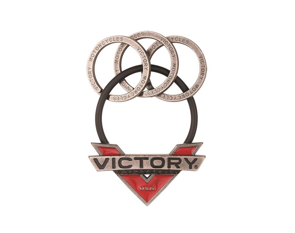 Victory Motorcycle V-Badge Metal Keyring 2863983
