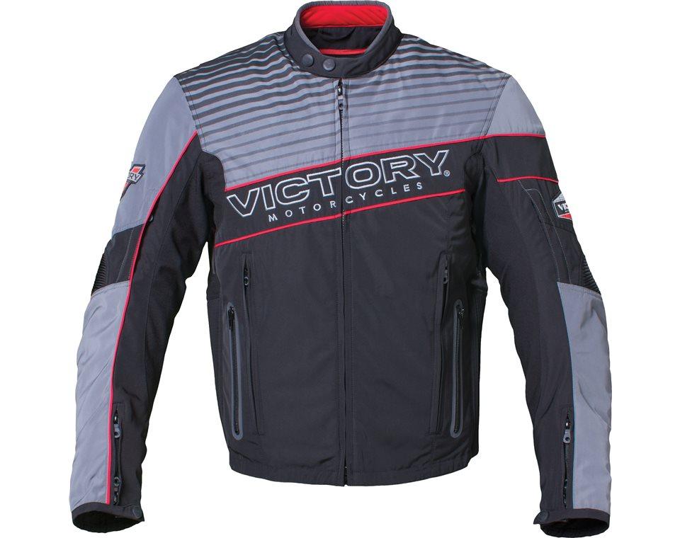 Mens Graphic Textile Jacket - Black/Gray 2864329